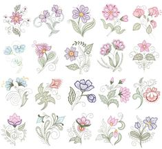 Floriani Floral Shadow Works Design Collection