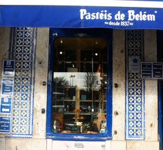 """tile house of Belem where you can eat the famous """"Pasteis de Belem"""""""
