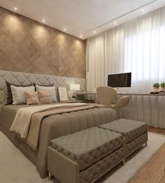 Home Decoration For Christmas Modern Luxury Bedroom, Luxury Bedroom Design, Bedroom Furniture Design, Home Room Design, Master Bedroom Design, Luxurious Bedrooms, Home Bedroom, Bedroom Decor, Bedroom Apartment
