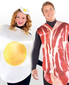 Love a good fry up? How about dressing up in this bacon and egg costume for couples? A funny couple's costume that you can pick up at partydelights.co.uk.