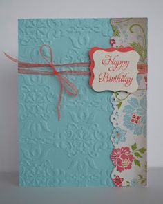stampinup - I love embossing folders.