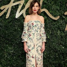 Channel Alexa Chung's effortless wavy bob and brick red lip for your next night out