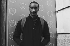 Corey Baptiste at FM Models inbetween shows during London Colletions Men AW14:by Paola Vivas for Boys by Girls.