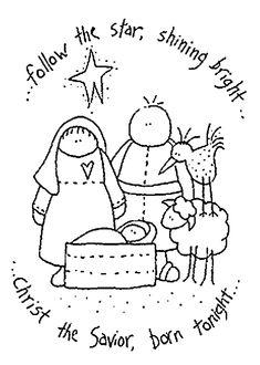 Christmas birth embroidery