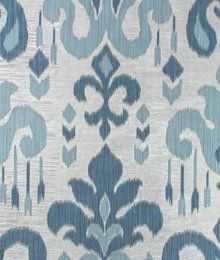 Pillow Fabric, Ikat Fabric, Drapery Fabric, Blue Fabric, Fabric Sofa, Curtains, Curtain Patterns, Textile Patterns, Print Patterns