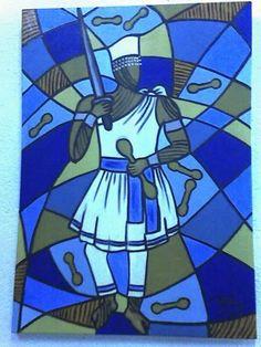 Oxaguiã acrílico s/tela pintado por Bianca Branco