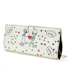 Look at this White & Pink Newlywed Clutch on #zulily today!