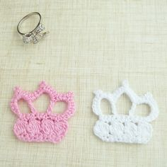 Image detail for -Crochet Applique Pattern princess Crown - pdf beginner ebook how to ...