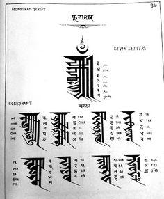 कुटाक्षर Kutakshar Monogram Script - Nepal Bhasa Newa Lipi - Ranjana #calligraphy #typography