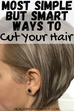 Discover here the most simple but smart ways to cut your hair. Ponytail Haircut, Diy Haircut, Healthy Hair Tips, Healthy Hair Growth, How To Cut Your Own Hair, Your Hair, Short Hair Cuts, Short Hair Styles, Medium Layered Hair