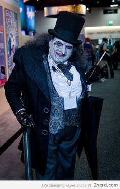 Awesome Penguin from Batman Cosplay - http://2nerd.com/cool-pics/awesome-penguin-batman-cosplay/