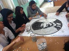 Pullarla Atatürk  çalışması
