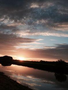 Goedemorgen! - Goodmorning!  #sunrise #river #Mooirivier #Dalfsen #Overijssel
