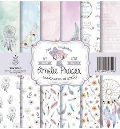 SET DE PAPELES NUNCA DEJES DE SOÑAR AMELIE Amelie, Journaling, Kit, Ephemera, Paper Crafts, Scrapbook, Cool Stuff, Digital, Free