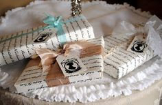 DIY Jane Austen font wrapping paper