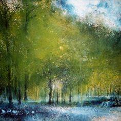 Stewart Edmondson Something Stirs Acrylic on Paper 92 x 94 cm.