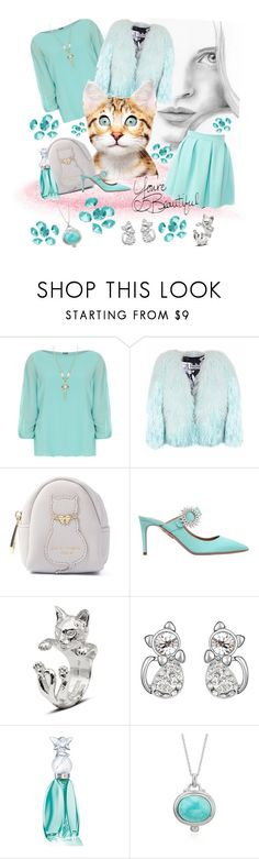 """Cute style"" by marina-hofman-mallander ❤ liked on Polyvore featuring WearAll, Florence Bridge, Aquazzura, Anna Sui and Blue La Rue"