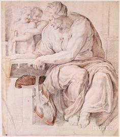 La sibylle de Cumes d'après la chapelle Sixtine au Vatican de Rubens Pierre Paul ,D'après Michel-Ange (dit), Michelangelo Buonarroti