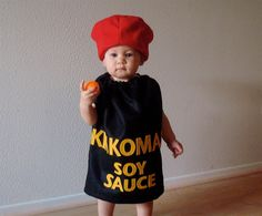 Baby Costume Halloween Costume Soy Sauce Sushi Newborn Infant Toddler Dress Up Photo Prop Group Twin Couple by TheCostumeCafe on Etsy https://www.etsy.com/listing/80551393/baby-costume-halloween-costume-soy-sauce