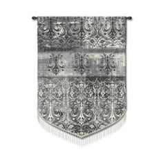 Fine Art Tapestries Abstract Damask Pearl - Studios, Acorn - 4134-WH