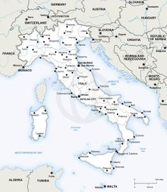 Map Of Italy In English With Cities.City Map Of Italy In English