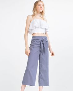 STRIPED TROUSERS-View All-TROUSERS-WOMAN | ZARA United States