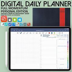 2020 Full Momentum Digital Daily Planner l Standard Edition Daily Planner Pages, Work Planner, Project Planner, Business Planner, Goals Planner, Weekly Planner, Life Journal, Daily Journal, Planner Template