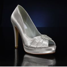 DYEABLES GIANNA WHITE Wedding and Bridesmaids Shoes WHITE Bridal Shoes IVORY Bridal Shoes