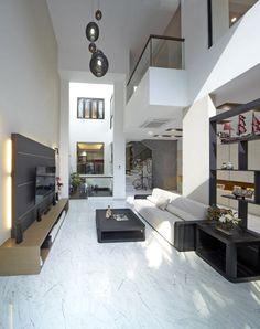 Florissa, Modern Landed House Interior Design, Living Room.