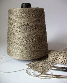 Organic Linen Yarn Thread on cone 68 tex x 2 by LinenGifts on Etsy, $29.49