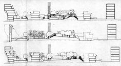 Section of Fleet road terraced housing by Neave Brown
