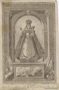 Virgen del Rosario de Sto. Domingo de Granada. Giraldos, Andrés 1781-1854 — Grabado — 1815?