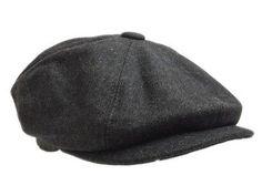 G&h 8 #panel,bakerboy,newsboy,peaky #belinder #1920s wool flat cap grey&black,  View more on the LINK: http://www.zeppy.io/product/gb/2/281940260276/