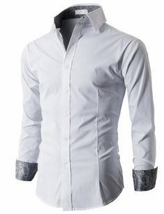 59cbdbd0c96 H2H Mens Stylish Dress Bussiness Shirt With Contrast Pattern WINE Asia XL  (KMTSTL038)