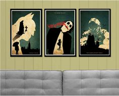 Batman Trilogy Minimalist Poster by posterexplosion on Etsy, $40.00  • • If I got this for Xmas, I'd pee my pants!