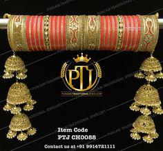 Gold Jewelry For Cheap Bridal Bangles, Bridal Jewelry, Gold Jewelry, Indian Wedding Jewelry, Indian Jewelry, Indian Bangles, Wedding Chura, Wedding Bride, Wedding Ideas