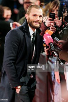 British actor Jamie Dornan attends the European premiere of 'Fifty Shades Darker'(German title 'Fifty Shades Of Grey - Gefaehrliche Liebe) at Cinemaxx on February 7, 2017 in Hamburg, Germany.