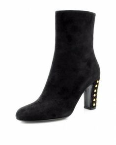 Gucci Genuine Leather Spike Booties - Booties - Shoes at Viomart.com