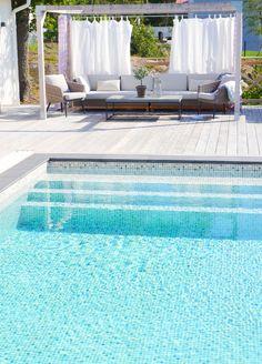 Terrace Decor, Small Pools, Garden Living, Backyard, Patio, Swimming Pool Designs, Pool Decks, Pool Houses, Outdoor Living