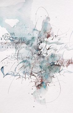 Only a Breath – Sophie Verbeek Abstract Watercolor, Watercolor Paintings, Abstract Art, Scripture Lettering, Calligraphy Drawing, Calligraphy Watercolor, Collages, Texture Photography, Flower Aesthetic