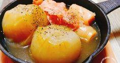 材料を切って炊飯器で炊くだけ!甘味たっぷり冬に嬉しい熱々とろ~りオニオンスープ♪
