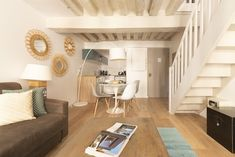 Marais designer 1BR, close to everything, up to 4 guest - Saint-Gervais Paris Airbnb, King Bedroom, Exterior Lighting, Walk In Shower, Washer And Dryer, Second Floor, Dining Area, Design, Outdoor Deck Lighting