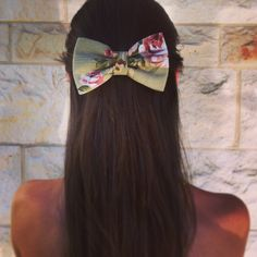 adult hair bows | floral BIG hair bow SN010 by colordrop on Etsy