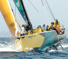 Sailing with the ABN AMRO One --winner of the Volvo Round-the-world Ocean Race -- during the BVI Spring Regatta.