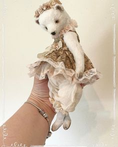 For sale Iren 9 inches (23 centimeters) Little bear Iren made from viscose filled with sawdust , metal and latex granulate soft body £120.00 GBP Postage: Worldwide £15.00 #teddybears #teddybear #teddy #sadovskayatoys #bear #