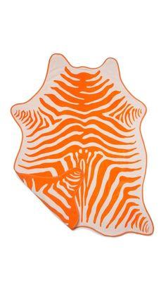 super cute ONE by Maslin Zebra Hide Beach Towel