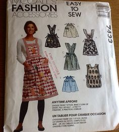 GOT THIS McCall's Apron Easy to Sew Pattern 7433