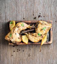 Szaftos, fűszeres csirke vele sült körtével: ettől lesz igazán finom a hús Turkey, Food, Drink, Peru, Meal, Soda, Essen, Hoods, Meals