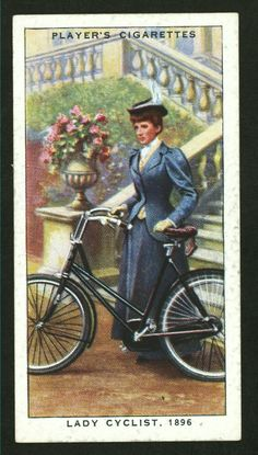 Lady cyclist, 1896. From New York Public Library Digital Collections.