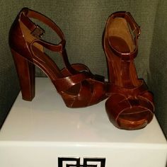 SOLD BCBG Generation leather strappy sandal Brown leather. True to size BCBGeneration Shoes Sandals